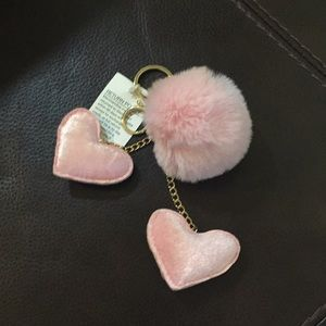 Accessories - Blush Pom/Hearts Key FOB